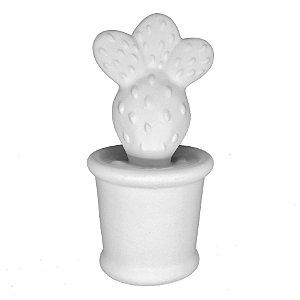 Mini cacto de Cerâmica Branco