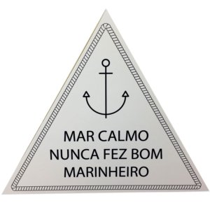 Quadrinho Triangular Mar Calmo 20x20