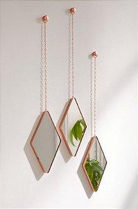Trio de Espelhos Dima Cobre