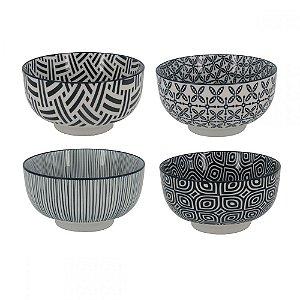Conjunto de Bowls Preto/Branco