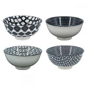Conjunto de Bowls  Preto e Branco -P