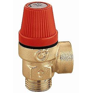 """Válvula de segurança 312 para alívio de pressão, 40 mca, 1/2"""" macho, descarga 1/2"""", para boiler até 1000 L"""