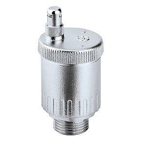 """5020 Eliminador de ar 3/4"""" Minical com Aquastop, Purgador Cromado 120°C Caleffi"""