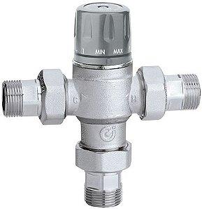 Misturadora Termostática 5218 Caleffi (45-65ºC) com Função de Fecho Térmico, Válvulas de Retenção e Filtros