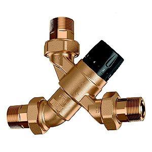 Misturadora Termostática 5200 Caleffi (35-65ºC) com Função de Fecho Térmico, Válvulas de Retenção e Filtros