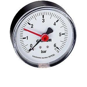 """5571 Manômetro Seco D50 Água Quente c Indicador, 1/4""""BSP Posterior CALEFFI"""
