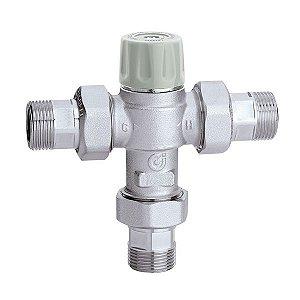 5217 Misturadora Termostática CALEFFI (30-50ºC) com Segurança Antiqueimadura, Válvulas de Retenção e Filtros