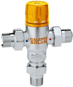"""Válvula Misturadora Termostática Solar 3/4"""" com retenções 30-65°C, 2521 Caleffi"""