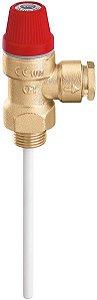 """Válvula de alívio de pressão e temperatura 4 bar (TP) 3/4""""x15mm, 309542 Caleffi"""