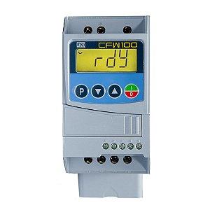 Inversor de Frequencia Weg CFW100 Mono 1cv 4,2A 220V