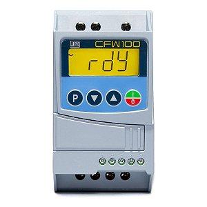 Inversor de Frequencia Weg CFW100 Mono 0,25CV 220V 2,6A