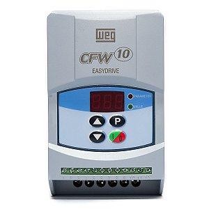 Inversor de Frequência Weg CFW10 Standard Mono 0,25CV 1,6A 220V