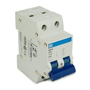 Mini Disjuntor Bipolar Weg MDW-C20-2  20A Curva C 5KA