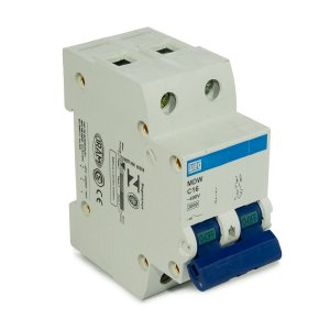 Mini Disjuntor Bipolar Weg MDW-C16-2 16A Curva C 5KA