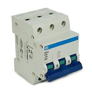 Mini Disjuntor Tripolar Weg MDW-C50-3 50A Curva C 5KA