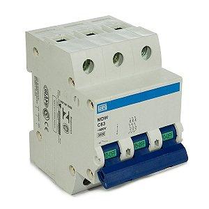 Mini Disjuntor Tripolar Weg MDW-C63-3 63A Curva C 5KA