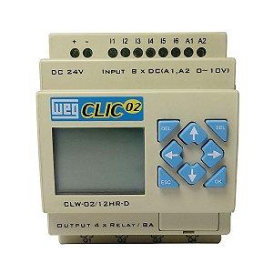Controlador Lógico CLP CLIC Weg CLW-02 12HR-D 3RD 24VCC
