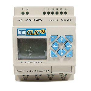 Controlador Logico Programavel CLW-02 10HR-A 3RD Clic02 127/220Vca Weg