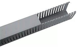 Conjunto Canaleta Cinza 50x50 PVC HD4P Hellermann