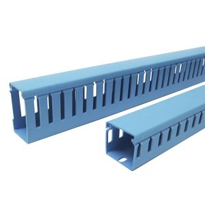 Conjunto Canaleta PVC Azul 80x80mm Hellermann