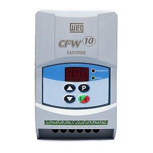 Inversor de Frequência Weg CFW10 Standard Mono 0,5cv 2,6A 220V