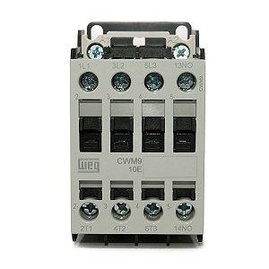 Contator Tripolar CWM9-10-30V04 9A 24VAC 1NA Weg