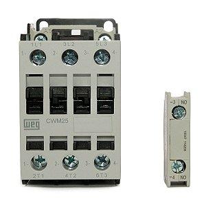 Contator Tripolar CWM25-10-30V26 25A 220Vac 1NA Weg