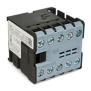 Mini Contator AZ CAW04-22-00V25 6A 220VAC 2NA+2NF Azul Weg