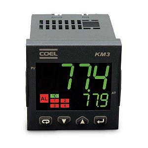 Controlador Digital de Temperatura KM3P 100A 240Vca/Vcc Coel