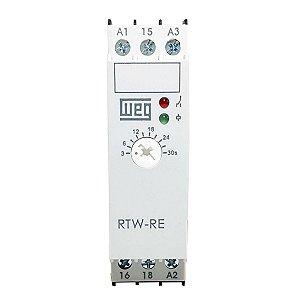 Relé de Tempo  Weg RTW-RE Retardo na Energ.3-30s 220v/24Vdc