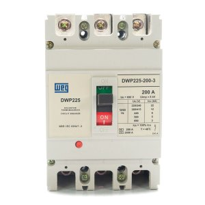 Disjuntor Caixa Moldada Ttripolar DWP225-200-3 200A Weg