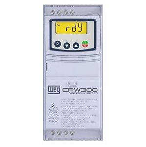 Inversor de Frequencia Weg CFW300 Mono 0,5CV 220V 2,6A S/P