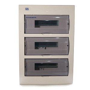 Quadro De Distribuição Embutir Weg QDW02 36 Disjuntor Din