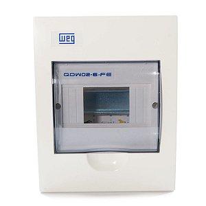 Quadro De Distribuição Embutir Weg QDW02 6 Disjuntor Din
