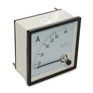 Amperimetro Analogico 96x96mm Medição Direta 50A