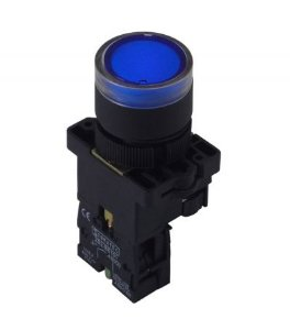 Botão Iluminado Plástico EW3661 Azul 220V 1NA