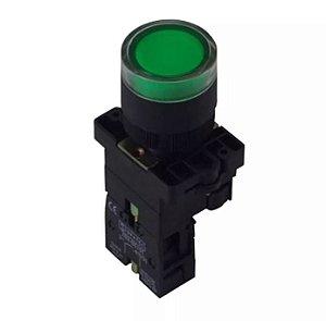 Botão Iluminado Sibratec XB2-EW3361 24V 1NA Verde