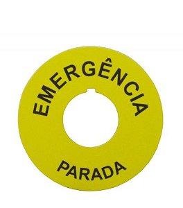 Placa de Identificação Emergência 22mm - Part B.