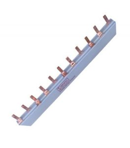 Barramento DIN 2 Polos 63A 1 Metro 27 Disjuntores Bifásicos