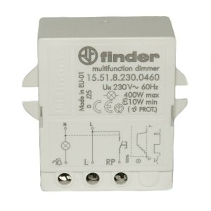 Relé de Impulso e Dimmer Finder 230Vac 1NA 400W