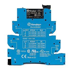 Relé de Interface Finder 24Vac/Vdc 1NAF 6A