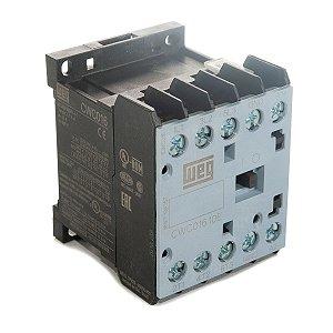Mini Contator Tripolar AZ CWC016-10-30V15 16A 1NA 127Vca Weg