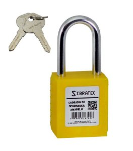 Cadeado de Segurança Multiuso Amarelo DBS Lock NR12 Sibratec