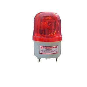 Sinalizador Giratório tipo Giroflex Vermelho LTE1101 24Vdc
