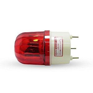 Sinalizador Giratório tipo Giroflex Vermelho LTE1101 24VCC