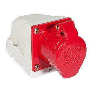 Tomada Industrial Sobrepor 114 16A 6H 240-380V 3P+T Vermelha