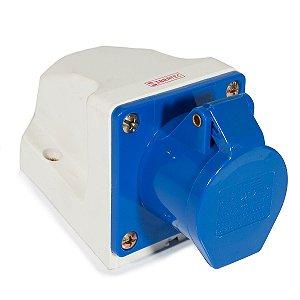 Tomada Industrial Sobrepor 113 – 2P+T 6H 220Vac 16A Azul