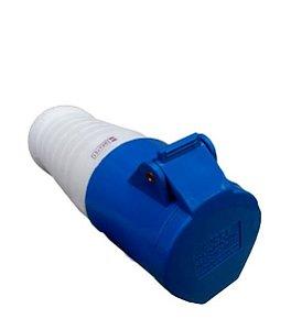 Tomada Industrial Pendente 214-9 – 3P+T 9H 220Vac 16A Azul