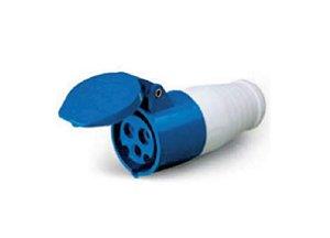 Tomada Industrial Pendente 223 – 2P+T 6H 220Vac 32A Azul