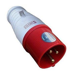 Tomada Industrial - 2P+T 9H 380 VAC 32A Vermelho IP44